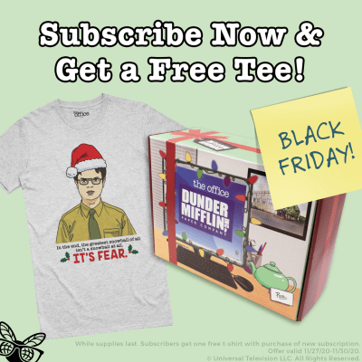 The Office Subscription Box Cyber Monday Deal: FREE Dwight Shirt With First Box!
