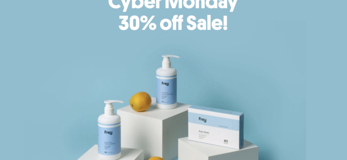 Frey Cyber Monday Sale: FREE Trial ($1 Shipped) + 30% Off Sitewide!