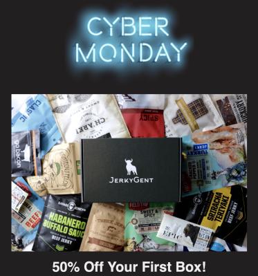 JerkyGent Cyber Monday Deal: HALF OFF First Box!