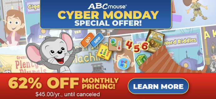 ABCmouse Cyber Monday Deal: Get 1 Year of ABCmouse for $45 – 60% Off!