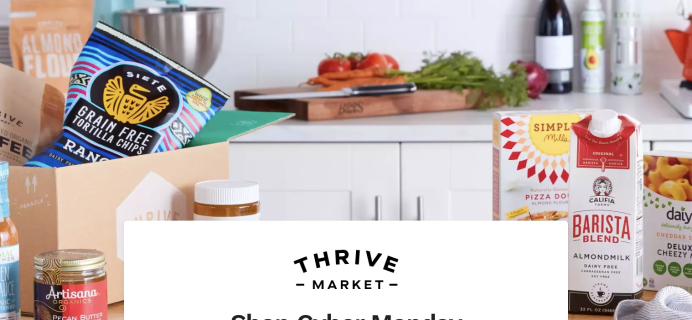 Thrive Market Cyber Monday Deal: Get 30% Thrive Cash Back!