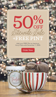 eCreamery Cyber Monday Deal: 50% Off SITEWIDE + FREE Pint of Candy Cane!