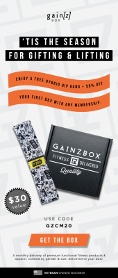 Gainz Box Cyber Monday Coupon: Get 50% off your first box + FREE Hip Band!