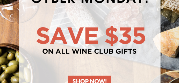 Plonk Wine Club Cyber Monday Deal: Save $35 on all wine club gifts!