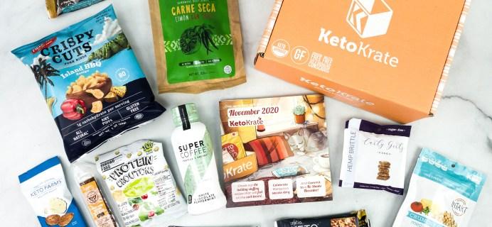 KetoKrate November 2020 Subscription Box Review + Coupon