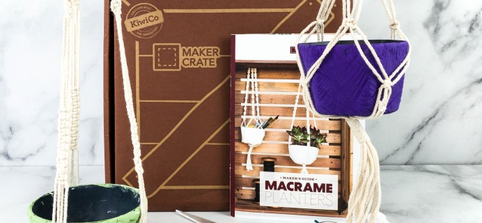 Maker Crate Review + Coupon – MACRAME PLANTERS