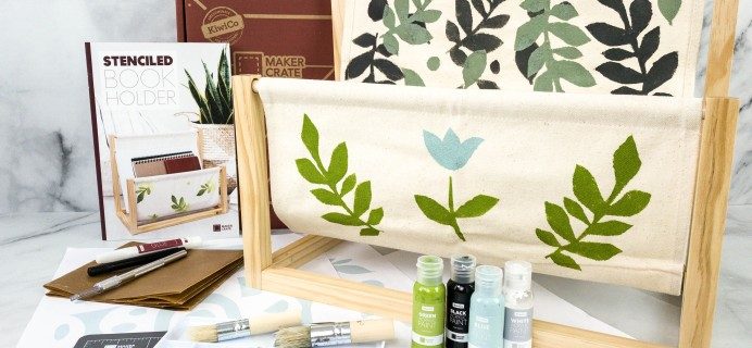 Maker Crate Review + Coupon – STENCILED BOOK HOLDER