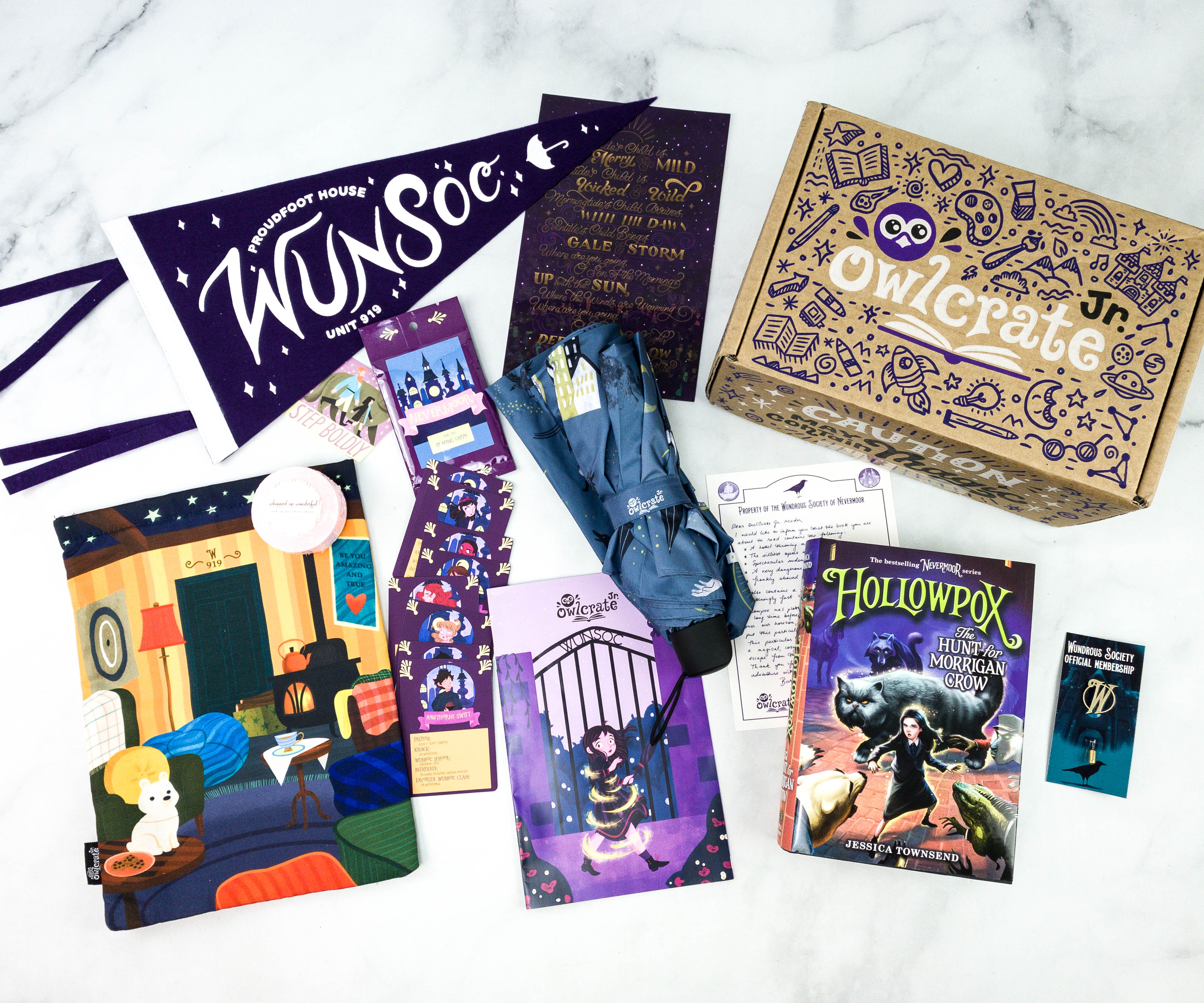 SOLD SEPARATELY Jessica Townsend Nevermoor **Owlcrate Limited Edition Box**