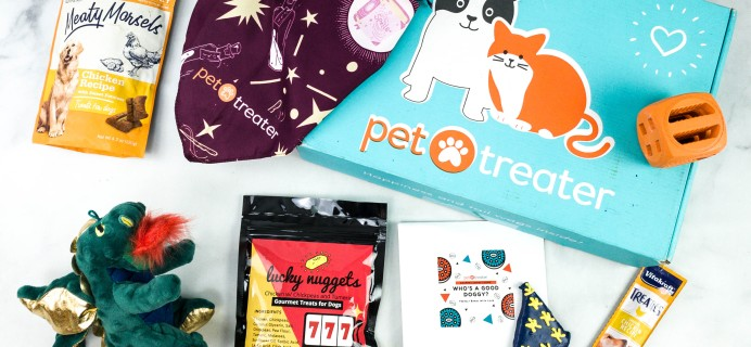 Pet Treater Deluxe Dog Pack October 2020 Subscription Box Review + Coupon