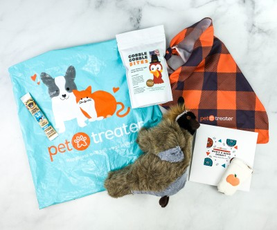 Pet Treater Dog Pack November 2020 Subscription Box Review + Coupon
