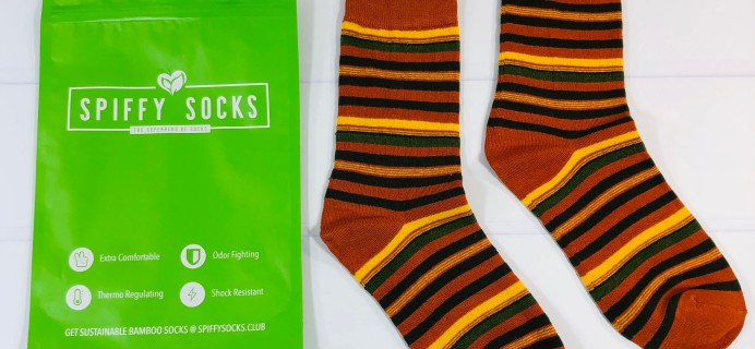 Spiffy Socks November 2020 Subscription Box Review  + Coupon