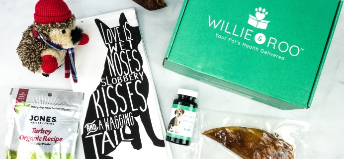 Willie & Roo November 2020 Subscription Box Review + Coupon