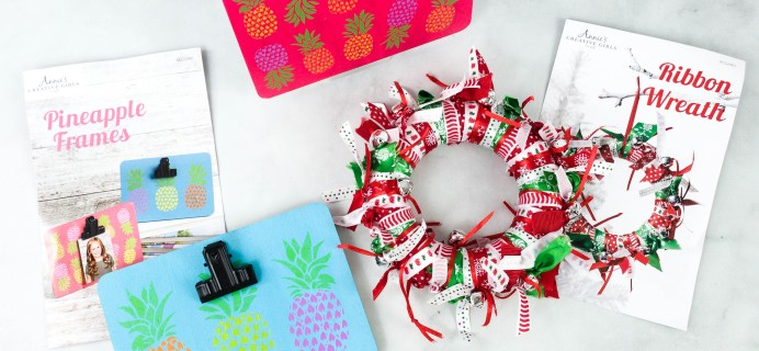 Annie's Creative Girls Club  Review + 80% Off Coupon – Pineapple Frames & Wreath