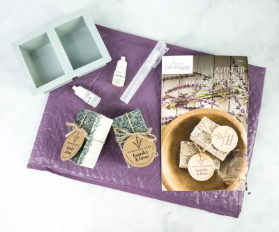 Annie's Farmhouse Style Kit Club Review + Coupon – LAVENDER SOAP