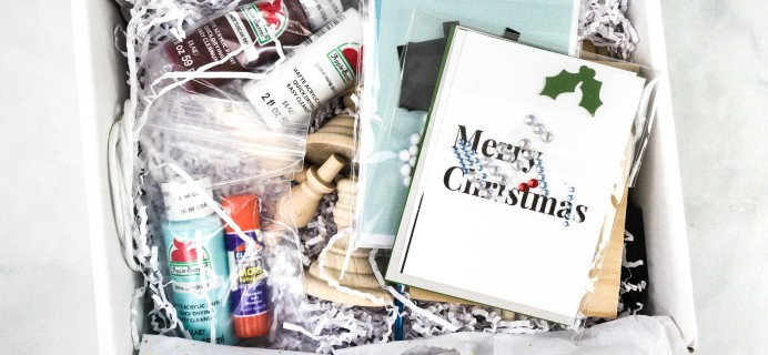 Confetti Grace November-December 2020 Craft Subscription Box Review