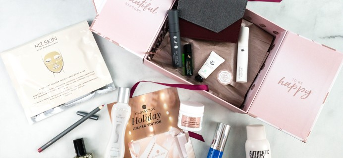 GLOSSYBOX 2020 Limited Edition Holiday Box Review