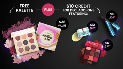 BOXYCHARM Coupon: FREE Beauty Bakerie Palette + $10 Popup Credit with December 2020 Box!