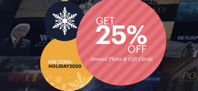 CuriosityStream Holiday Deal: Save 25% on annual plans – just $14.99 for the year!