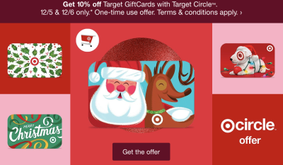 Holiday Deal: Save 10% on Target Gift Cards! THIS WEEKEND ONLY!