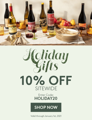 Plonk Wine Club Holiday Deal: Get 10% SITEWIDE!
