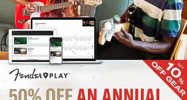 Fender Play Sale: Save 50% Off Annual Subscription!