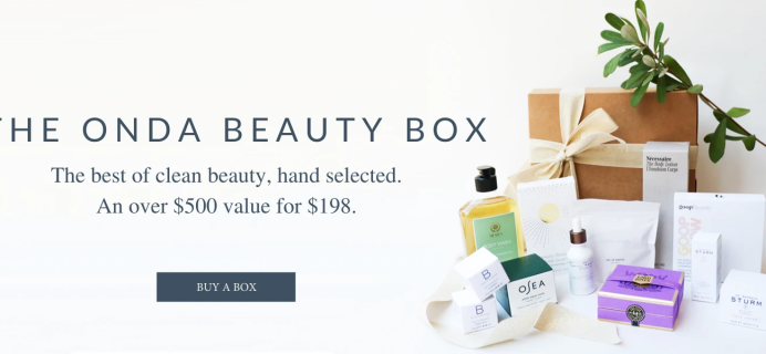 ONDA Beauty Limited Edition Beauty Box Available Now + Full Spoilers!