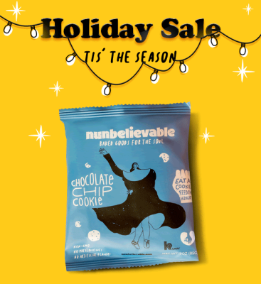 Nunbelievable Cookies Holiday Sale: Buy One, Get 50% Off!