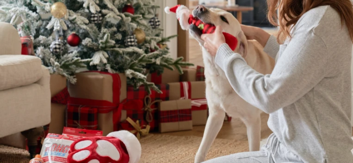 KONG Box Holiday Deal: FREE Paw Shaped Stocking and Santa Toy!