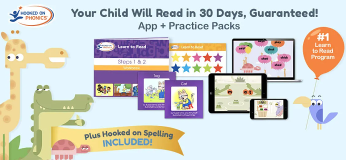 Hooked on Phonics now includes Hooked on Spelling + Coupon!