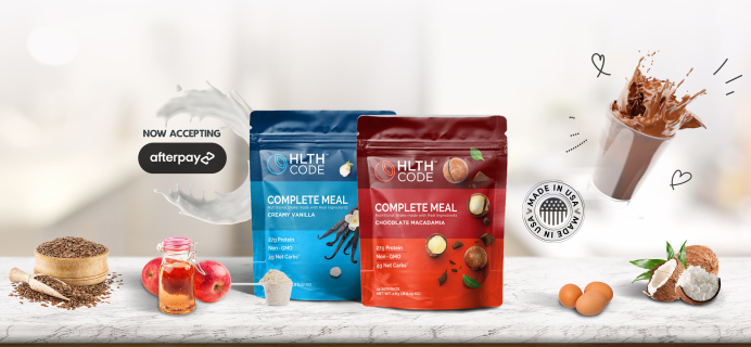 HLTH Code: Completely Delicious Meal Replacement!