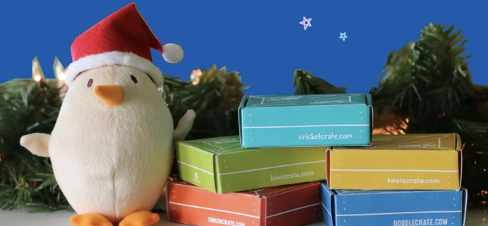 KiwiCo: LAST CHANCE to lock in $13.33 a month and gift KiwiCo for Christmas!