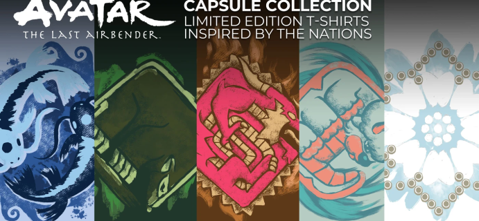 Loot Crate Limited Edition Avatar: The Last Airbender Capsule Collection Available Now!