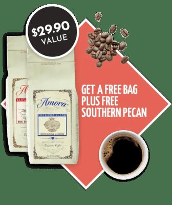 Amora Coffee Coupon: Free Bag of Southern Pecan – $3.95 Shipped!