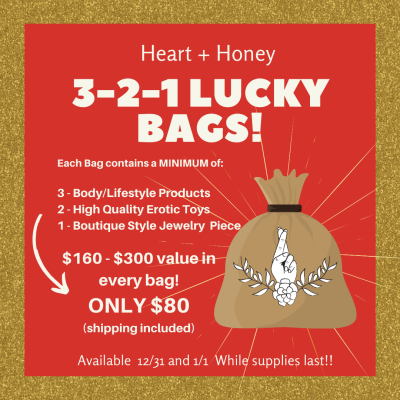 Heart + Honey Lucky Bags Available 12/31-1/1! {NSFW}