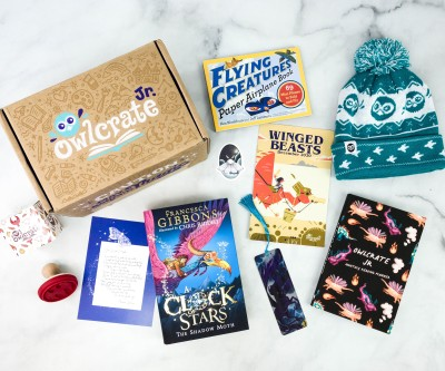 OwlCrate Jr. December 2020 Box Review & Coupon – WINGED BEASTS!