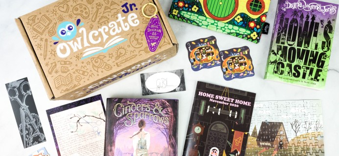 OwlCrate Jr. November 2020 Box Review & Coupon – HOME SWEET HOME!