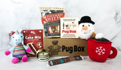 Pug Box December 2020 Subscription Box Review + Coupon
