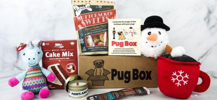 Pug Box December 2020 Subscription Box Review + Coupon