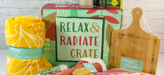 Relax & Radiate Crate Winter 2020 Subscription Box Review