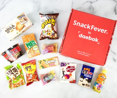Snack Fever Review + Coupon – December 2020 Deluxe Box!