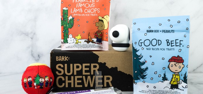 Super Chewer December 2020 Subscription Box Review + Coupon!