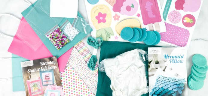 Annie's Creative Girls Club Review + 80% Off Coupon – Mermaid Pillow & Birthday Gift Bags
