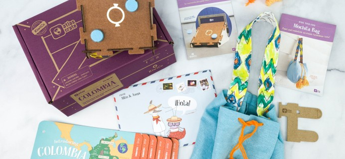 KiwiCo Atlas Crate Review & Coupon – COLOMBIA