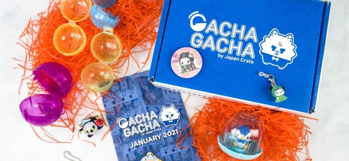 Gacha Gacha Crate January 2021 Subscription Box Review + Coupon