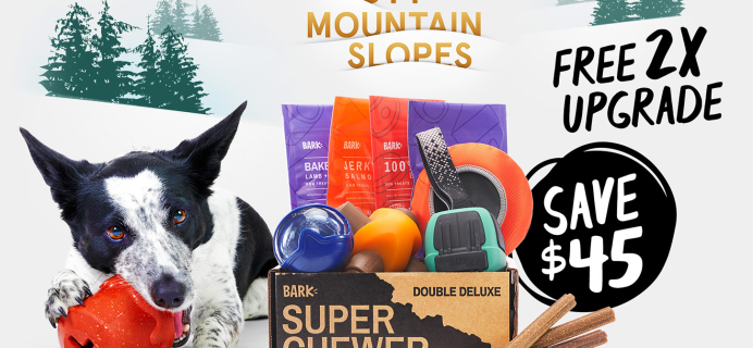BarkBox Super Chewer Deal: First Box Double Deluxe + Ski Lodge Theme!