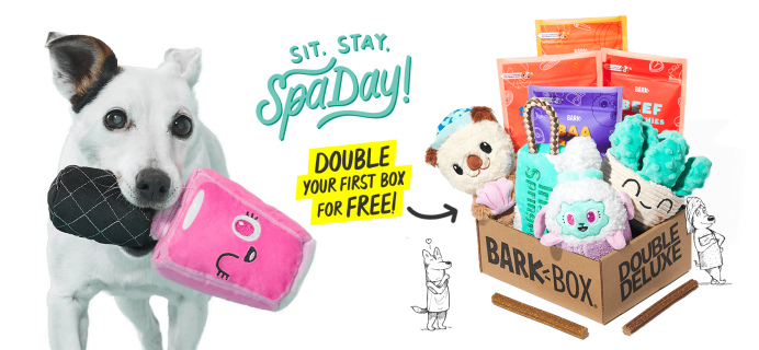 BarkBox Coupon: Double Your First Box for FREE + Spa Day Theme!