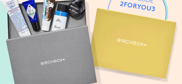 Birchbox Grooming Coupon: FREE Extra Box with Subscription!
