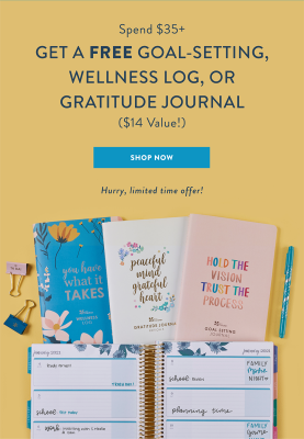 Erin Condren Deal: Get FREE Journal With $35+ Order!