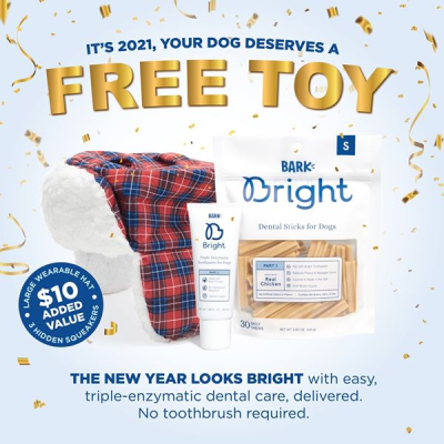 Bark Bright Coupon:  Free Wearable Toy with Subscription!