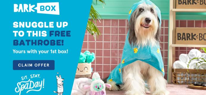 BarkBox Coupon: FREE Bath Robe with Spa Day Themed Box!